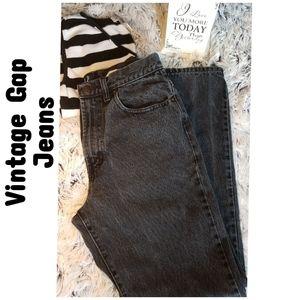 Vintage 90's Gap Black High Waist Mom Jeans.
